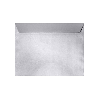 LUX 9 x 12 Booklet Envelopes 50/Pack, Silver Metallic (5350-06-50)