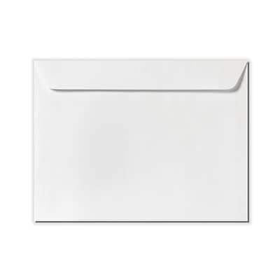 LUX 9 x 12 Booklet Envelopes 50/Pack, White Linen (4899-WLI-50)