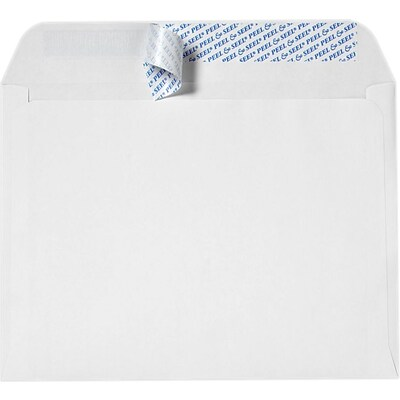 LUX 9 x 12 Booklet Envelopes 50/Pack, White w/ Peel & Seel® (14554-50)