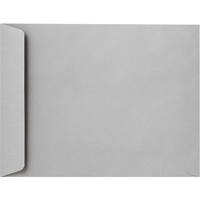LUX 10 x 13 Open End Envelopes 50/Pack, Gray Kraft (10686-50)