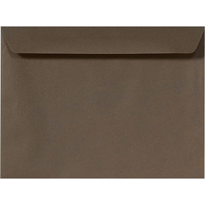 LUX 9 x 12 Booklet Envelopes 50/Pack, Chocolate (EX4899-17-50)