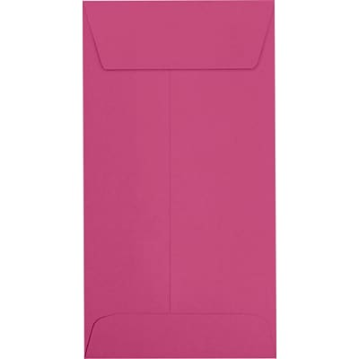 LUX #7 Coin Envelopes (3 1/2 x 6 1/2) 250/Pack, Magenta (LUX-7CO-10-250)