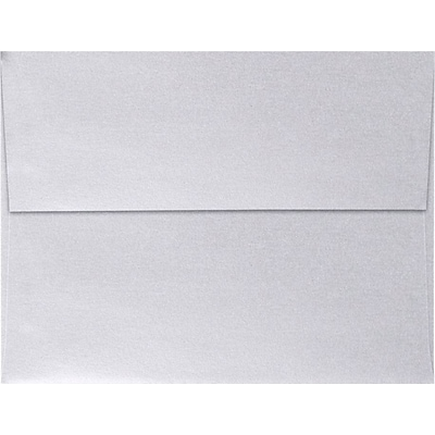 LUX A4 Invitation Envelopes (4 1/4 x 6 1/4) 50/Pack, Silver Metallic (4872-06-50)