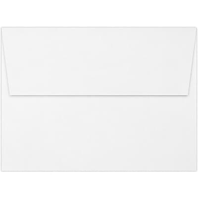 LUX A7 Invitation Envelopes (5 1/4 x 7 1/4) 50/Pack, Brilliant White - 100% Cotton (4880-SBW-50)