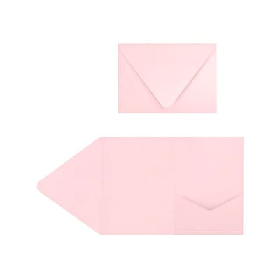LUX A7 Pocket Invitations (5 x 7) 40/Pack, Candy Pink (EX10LEBA706PF40)