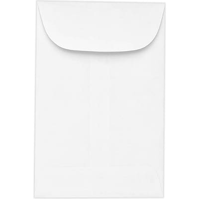 LUX #00 Coin Envelopes (1-11/16 x 2-3/4) 250/Pack, 24lb. Bright White (54164-250)