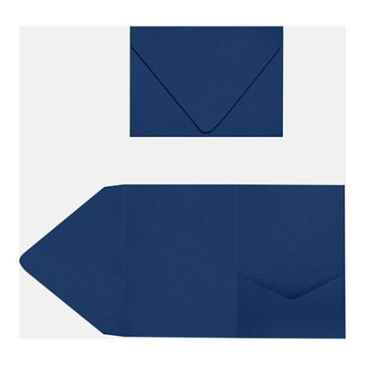 LUX A7 Pocket Invitations 120/Pack, Navy (LUXA7PKT103120)