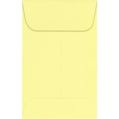 LUX #1 Coin Envelopes (2 1/4 x 3 1/2) 250/Pack, Lemonade (LUX-1CO-15-250)