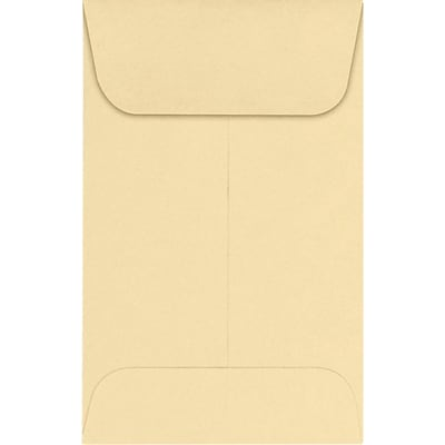 LUX #1 Coin Envelopes (2 1/4 x 3 1/2) 500/Pack, Nude (LUX-1CO-07-500)