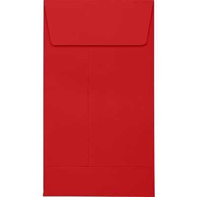 LUX #5 1/2 Coin Envelopes (3 1/8 x 5 1/2) 250/Pack, Ruby Red (LUX512CO18250)