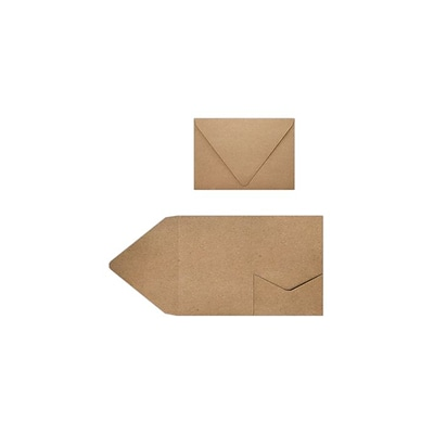 LUX A7 Pocket Invitations (5 x 7) 10/Pack, 18pt. Grocery Bag (A7PKTGB-10)