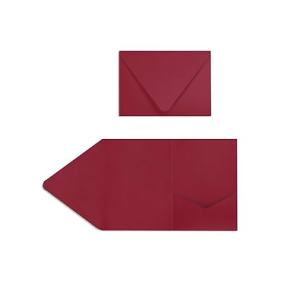 LUX A7 Pocket Invitations (5 x 7) 10/Pack, Garnet (EX10LEBADR2410)
