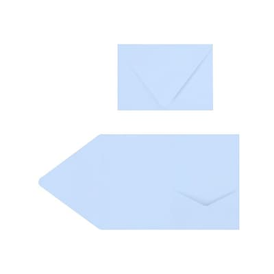 LUX A7 Pocket Invitations (5 x 7) 50/Pack, Baby Blue (EX10LEBA705PF50)