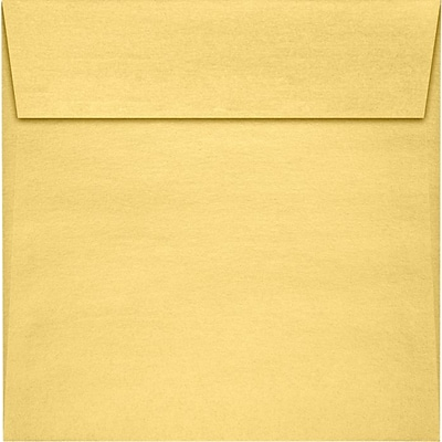 LUX 5 1/2 x 5 1/2 Square Envelopes 250/Pack, Gold Metallic (8515-07-250)