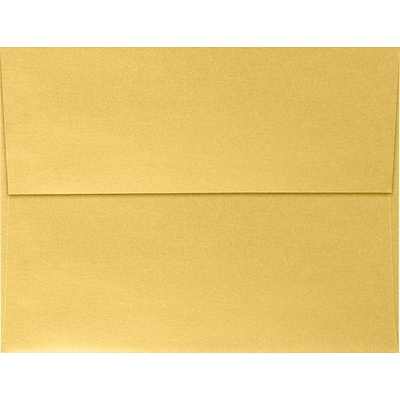 LUX A4 Invitation Envelopes (4 1/4 x 6 1/4) 50/Pack, Gold Metallic (4872-07-50)