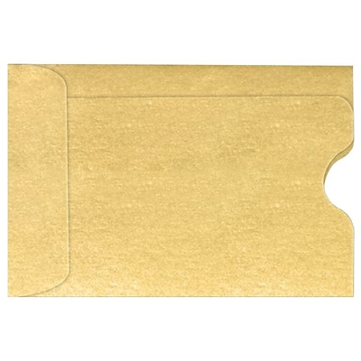 LUX Credit Card Sleeve (2 3/8 x 3 1/2) 250/Pack, Gold Metallic (1801-07-250)