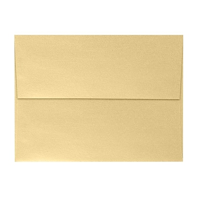 LUX A7 Invitation Envelopes (5 1/4 x 7 1/4) 500/Pack, Blonde Metallic (5380-M07-500)