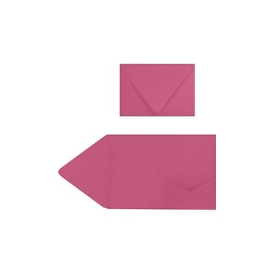 LUX A7 Pocket Invitations (5 x 7) 20/Pack, Magenta (EX10LEBA702PF20)