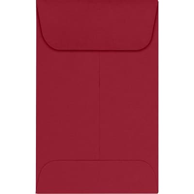 LUX #1 Coin Envelopes (2 1/4 x 3 1/2) 1000/Pack, Garnet (LUX-1CO-26-1000)
