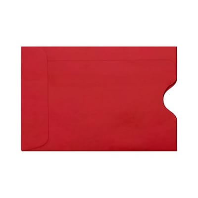 LUX Credit Card Sleeve (2 3/8 x 3 1/2) 250/Pack, Ruby Red (LUX-1801-18-250)
