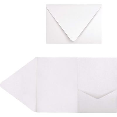 LUX A7 Pocket Invitations (5 x 7) 50/Pack, Crystal Metallic  (EX10LEBACMPF50)