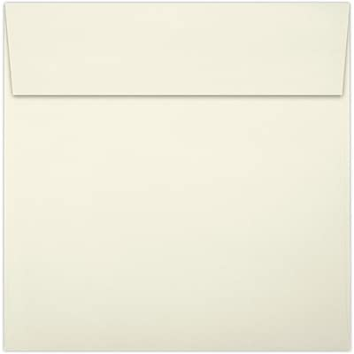 LUX 6 x 6 Square Envelopes 50/Pack, Natural - 100% Recycled (8525-NPC-50)