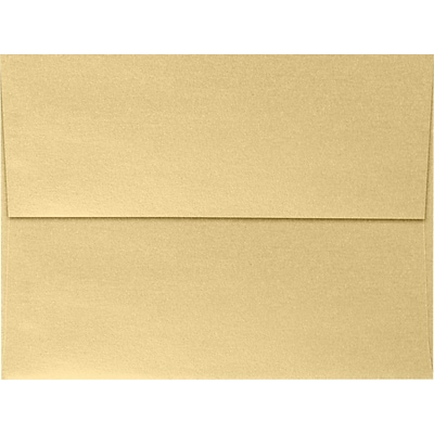 LUX A6 Invitation Envelopes (4 3/4 x 6 1/2) 500/Pack, Blonde Metallic (4875-M07-500)