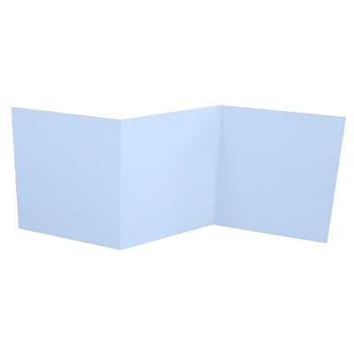LUX 6 1/4 x 6 1/4 Z-Fold Invitation 50/Pack, Baby Blue (LUX614ZF-13-50)