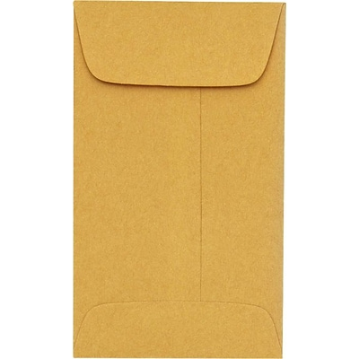 LUX #6 Coin Envelopes (3 3/8 x 6) 50/Pack, 24lb. Brown Kraft (95067-50)