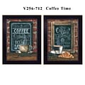 TrendyDecor4U 18 in. x 14 in. Coffee Time Collection by Diane Weaver, Printed Framed Wall Art (V25