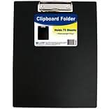 C-Line Black Vinyl Clipboard Folder, 12.75 x 9 (30601)