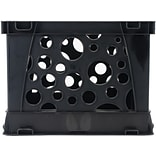 Storex Industries Black Micro Crate, 6.75 x 5.8 x 4.8, 1/Pkg (631018C-1)