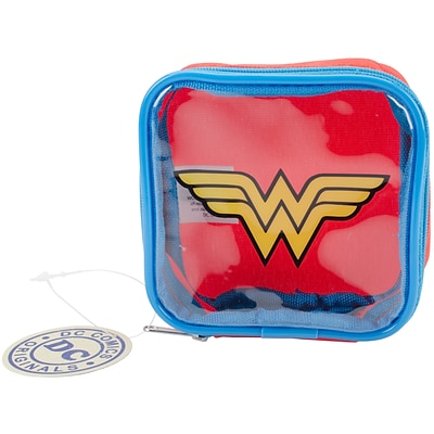 Everything Mary Wonder Woman DC Comics Square Zip Pouch, 4.25 x 1.5 x 4.25 (DCSZP-155)