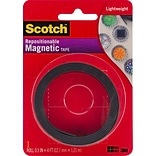 3M Scotch Repositionable Magnetic Tape, .5 x 4 (MT004.5)