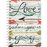 LANG Love Where You Go Spiral-Bound Journal Notebook, 6 x 8.25, 240 Pages (13500-12)