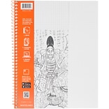 Roaring Spring Grey Whitelines Wirebound Graph Notebook, 11 x 8.5 70 Sheets (RS17001)