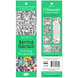 Re-marks Spring Garden Coloring Bookmarks, 5/Pkg (6814-50300)