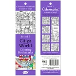 Re-marks Cities Of The World Coloring Bookmarks, 5/Pkg (6814-34179)