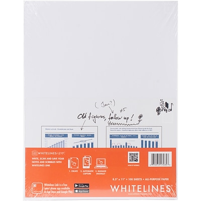 Roaring Spring Whitelines All Purpose Paper, Grey, 8.5X11, 100 Sheets (RS17035)