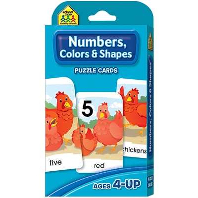 School Zone Numbers, Colors & Shapes Game Cards, 54/Pkg (SZGAME-5028)