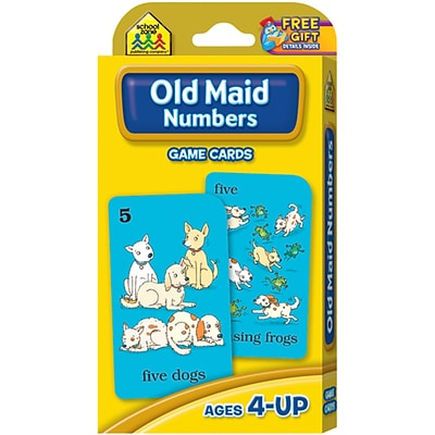 School Zone Old Maid Game Cards, 49/Pkg (SZGAME-5015)