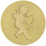 Manuscript Pen Cherub Large Decorative Sealing Coin .98 (728CHRB)