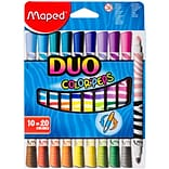 Maped Helix Usa ColorPeps Duo Tip Ultra-Washable Markers, 10/Pkg (847010)