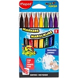 Maped Helix Usa ColorPeps Jungle Fine Tip Washable Markers, 8/Pkg (845447)