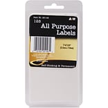 A & W Office Supplies White All-Purpose Labels, 1 x 2.75, 128/Pkg  (AW251-46)