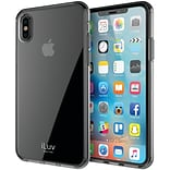 iLuv Vyneer Transparent Case for iPhone X, Black (AIXVYNEBK)