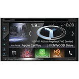 Kenwood 6.8 Double-DIN In-Dash Navigation DVD Receiver with Bluetooth, Apple CarPlay,& Android Auto