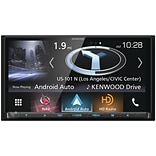 Kenwood 6.95 Double-DIN In-Dash Navigation DVD Receiver with Bluetooth, Apple CarPlay, Android Auto