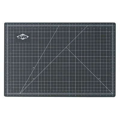 Alvin Professional Self-Healing Cutting Mat 18 x 24- Black/Green