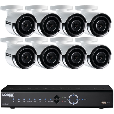 Lorex 8-Channel 4.0-Megapixel 2TB NVR with 8.0-Megapixel PoE Cameras, Includes 8 Cameras (LNK71082TC8B)
